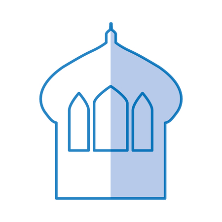 residences: Castle tower isolated icon vector illustration design Illustration