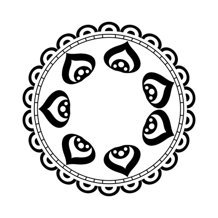 Cirkelvormige mandala stijl vector illustratie ontwerp