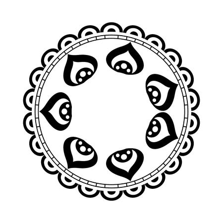 Mandala circolare pizzo illustrazione vettoriale illustrazione Archivio Fotografico - 80037189