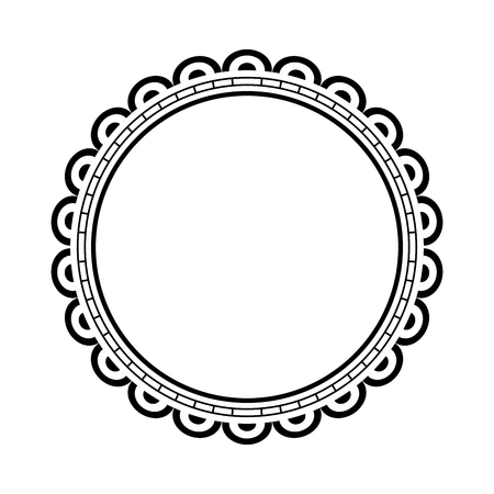 circular lace mandala style vector illustration design Banco de Imagens - 80037188