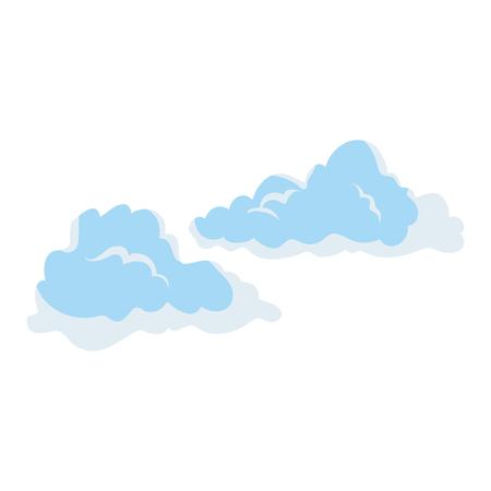 白地カラフルなデザイン ベクトル イラスト上の雲アイコン  イラスト・ベクター素材