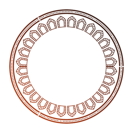 circular lace mandala style vector illustration design Imagens - 80037212