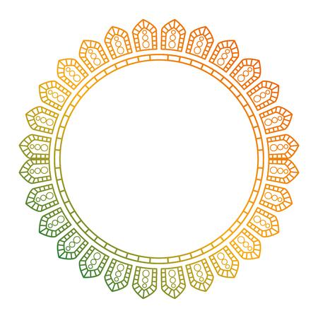 circular lace mandala style vector illustration design Imagens - 80037211