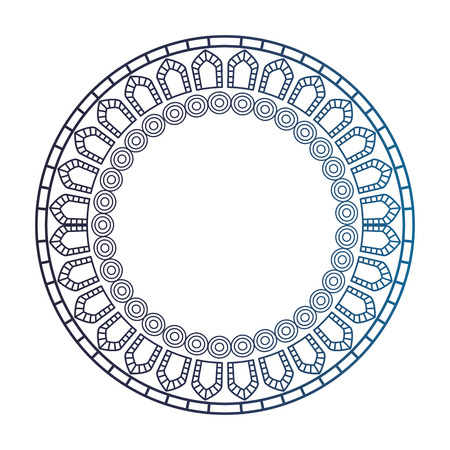 circular lace mandala style vector illustration design Banco de Imagens - 80045976