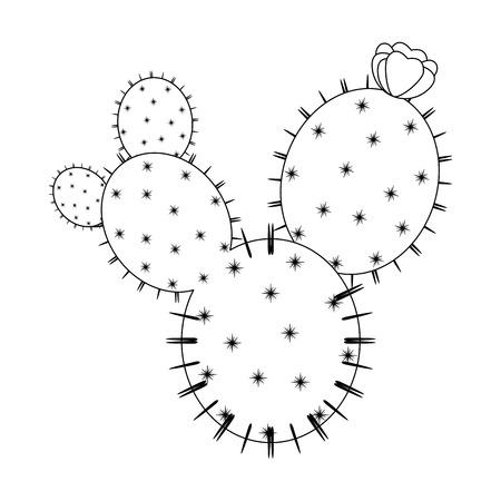 Icône de cactus sur fond blanc illustration vectorielle Banque d'images - 80045630