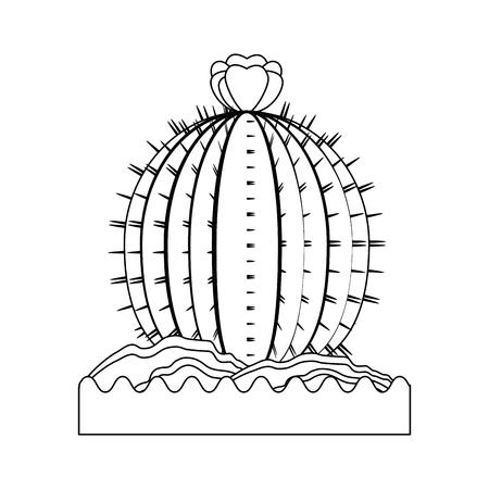 白背景ベクトル イラスト上のサボテン アイコン