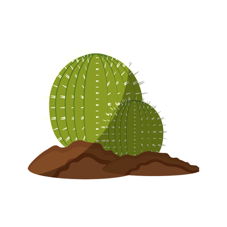 cactus icon over white background colorful design vector illustration 版權商用圖片 - 80045953