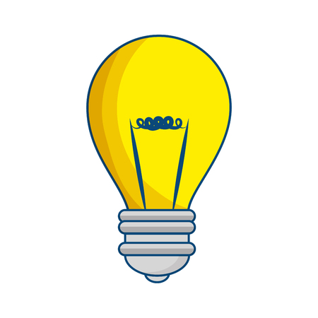 light bulb icon over white background vector illustration Ilustração