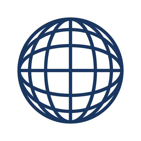 global sphere icon over white background vector illustration Ilustração