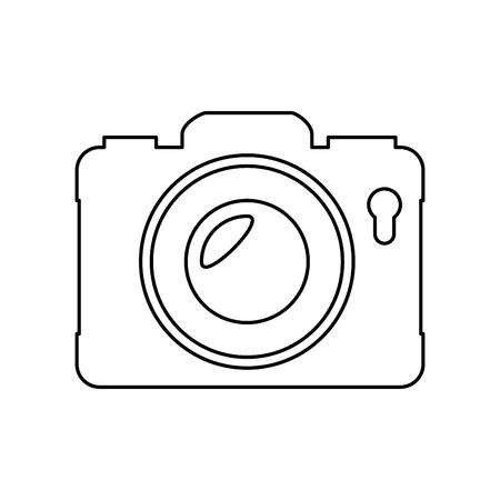 camera icon over white background vector illustration Stock Vector - 80048322