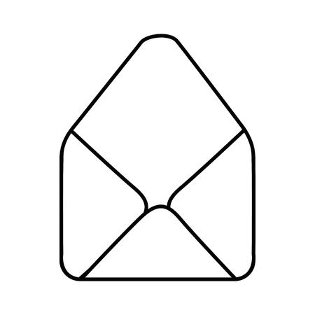 흰색 배경 벡터 일러스트 레이 션을 통해 봉투 아이콘 스톡 콘텐츠 - 80048737