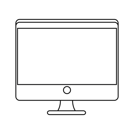 monitor computer icon over white background vector illustration Illustration