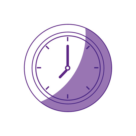 白い背景のベクトル図の上の時計のアイコン