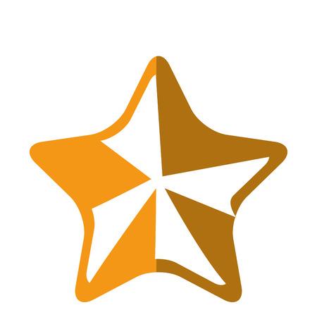 star award: star icon over white background colorful design vector illustration