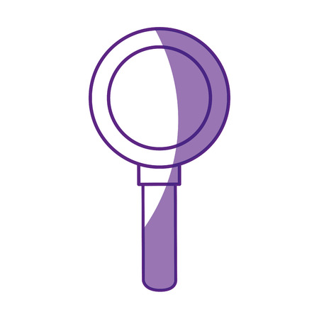 magnifying glass icon over white background vector illustration Stock Vector - 80049598