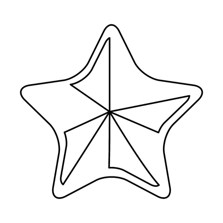 star icon over white background vector illustration Çizim