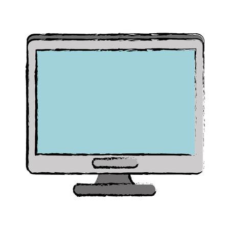 白い背景の上にコンピュータアイコンカラフルなデザインベクトルイラスト