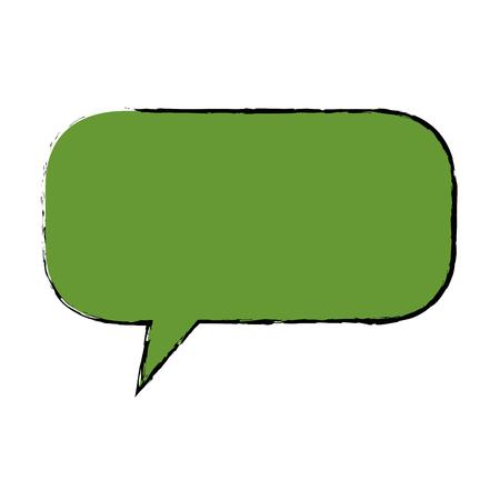 speech bubble icon over white background colorful design vector illustration
