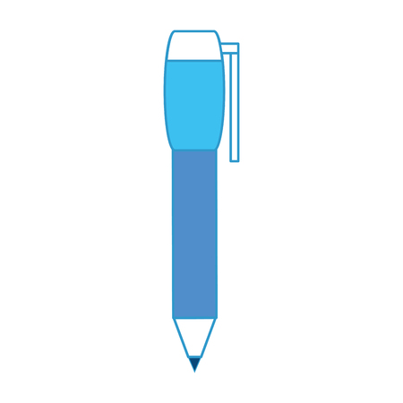 pen icon over white background colorful design vector illustration