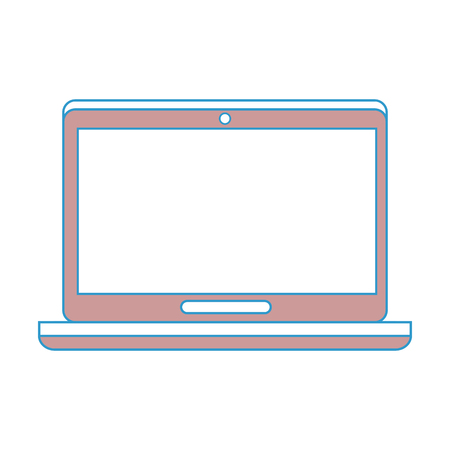 laptop computer icon over white background colorful design vector illustration Illustration