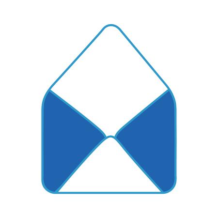 흰색 배경 위에 봉투 아이콘 화려한 디자인 벡터 일러스트 레이 션 스톡 콘텐츠 - 80049768
