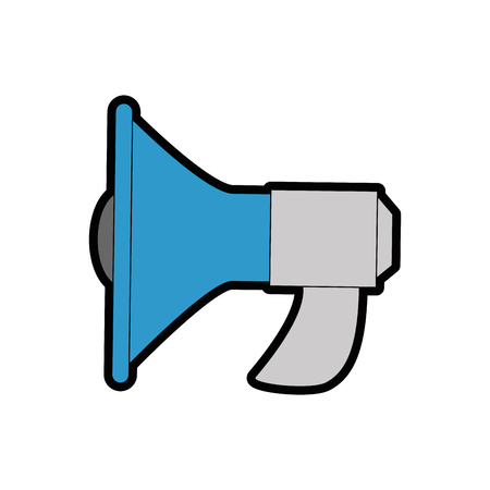 megaphone icon over white background colorful design vector illustration