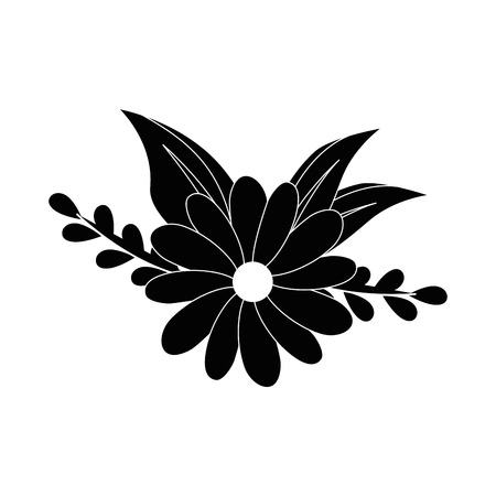 flowers and leaves icon over white background vector illustration Stock fotó - 80050041