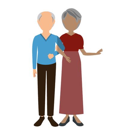 avatar couple icon over white background vector illustration Illustration