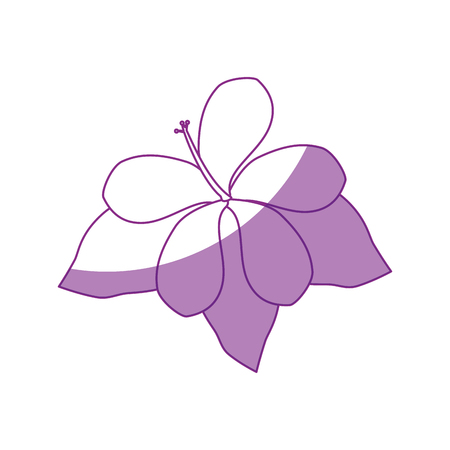 beautiful flower and leaves icon over white background vector illustration Illusztráció