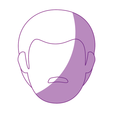 man face with mustache icon over white background vector illustration Ilustração