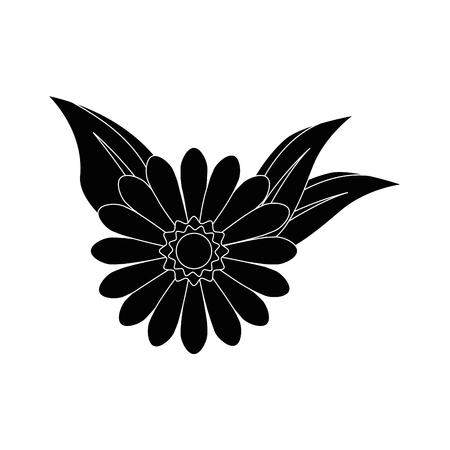 flowers and leaves icon over white background vector illustration Stock fotó - 80050131