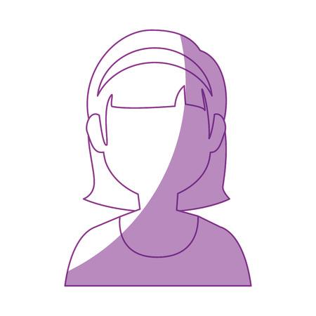 avatar woman icon over white background vector illustration 版權商用圖片 - 80050641