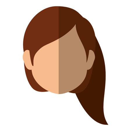 charming: woman face icon over white background colorful design  vector illustration