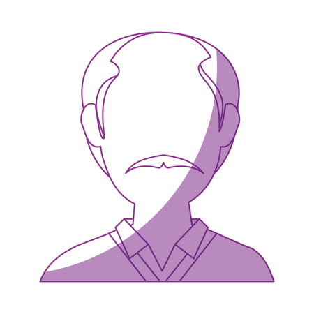 avatar old man icon over white background vector illustration