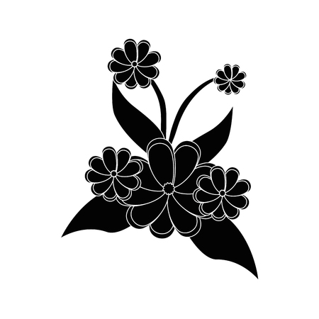 flowers and leaves icon over white background vector illustration Ilustrace