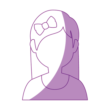 charming: avatar woman icon over white background vector illustration