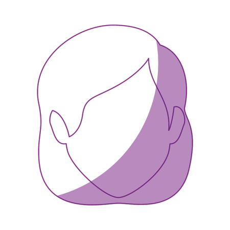 woman face icon over white background vector illustration