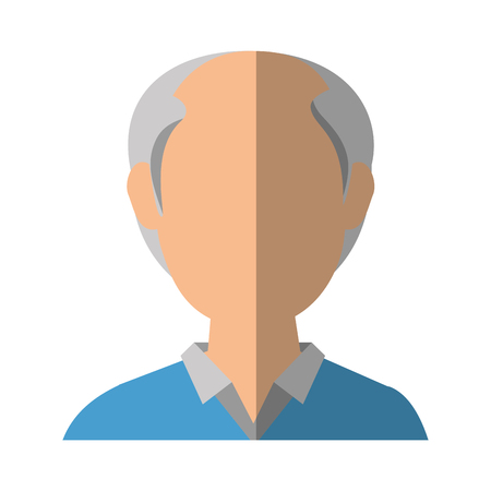 avatar old man icon over white background vector illustration