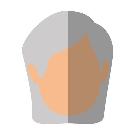 흰색 배경 위에 오래 된 여자 얼굴 아이콘 화려한 디자인 벡터 일러스트 레이 션
