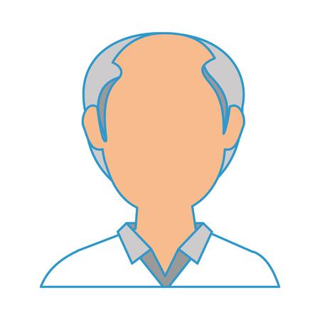 白地カラフルなデザインのベクトル図にアバター古い人」アイコン