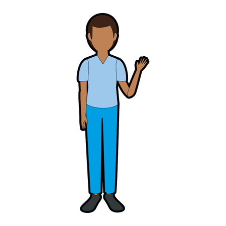 deisgn: avatar man wearing casual clothes icon over white background colorful deisgn vector illustration