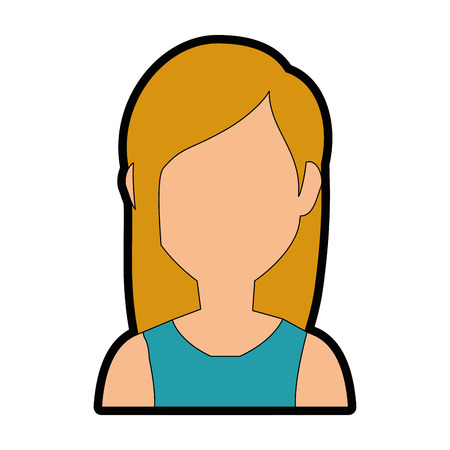 charming: avatar woman icon over white background colorful design vector illustration