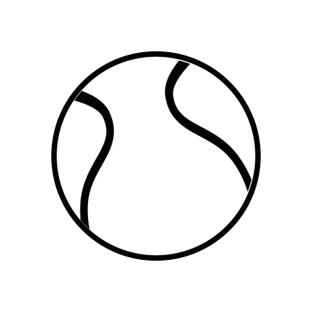 tennis ball icon over white background vector illustration