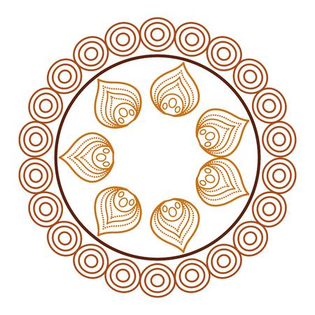 circular lace mandala style vector illustration design Banco de Imagens - 80088160