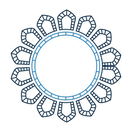 円形レース マンダラ スタイル ベクトル イラスト デザイン 写真素材 - 80088168