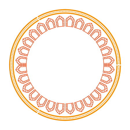 circular lace mandala style vector illustration design Banco de Imagens - 80088172