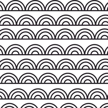 patroon achtergrond met mandala's vector illustratie ontwerp Stock Illustratie