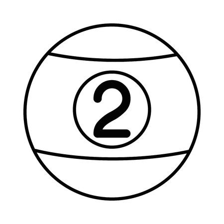 白の背景ベクトルイラストの上にビリヤードボールのアイコン