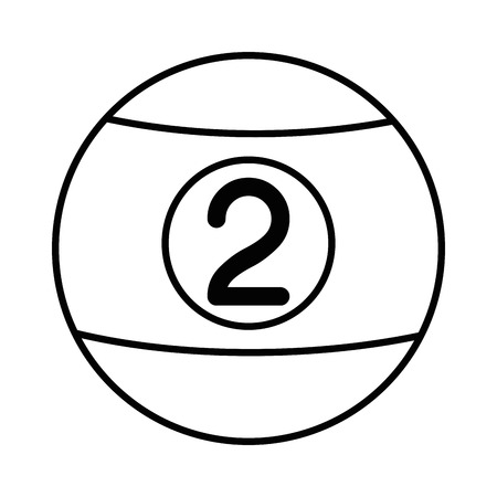 billiards ball icon over white background vector illustration Illusztráció