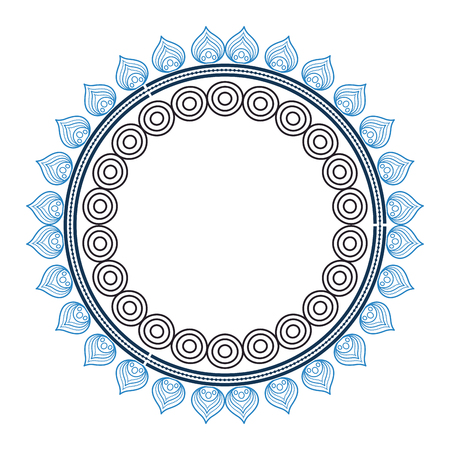 circular lace mandala style vector illustration design